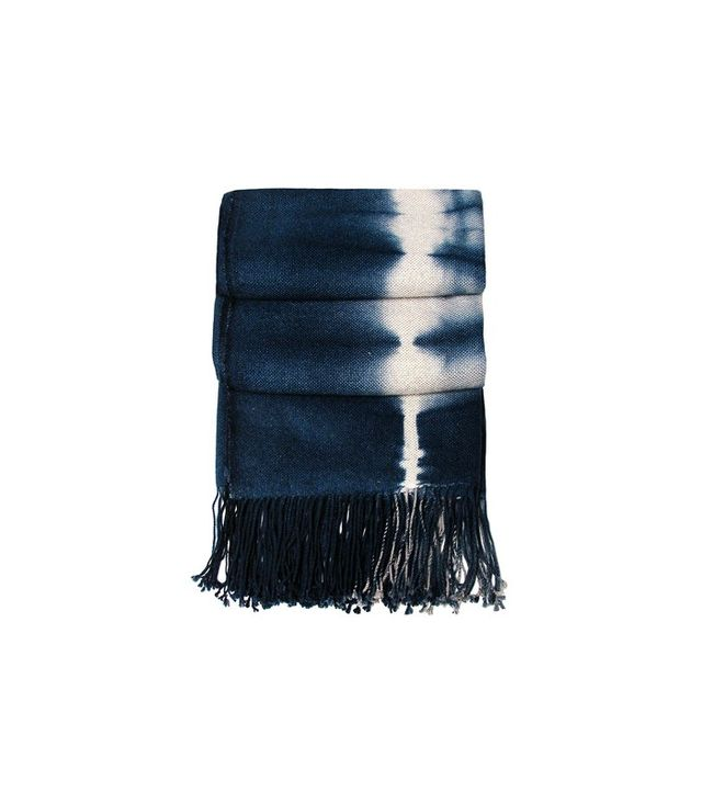 Bliss Home and Design Shibori Indigo Throw