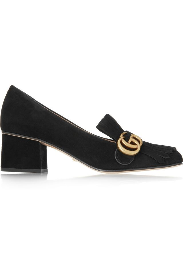 Gucci Fringed Suede Loafers