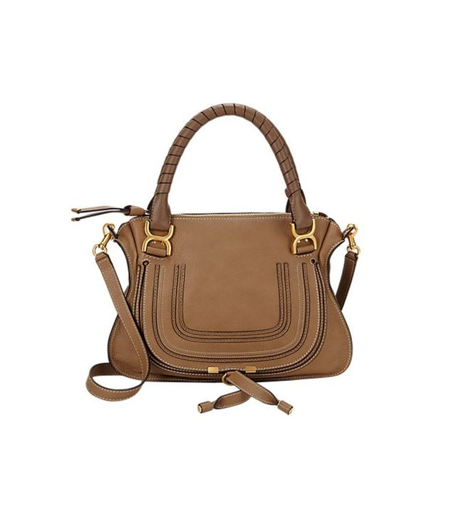 Chloé Marcie Medium Satchel in Nut