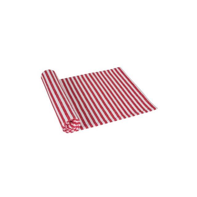 Freedom Seersucker Table Runner 35x140cm in Red