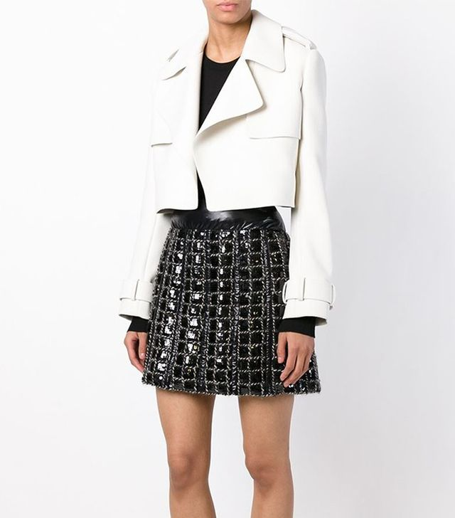 Chanel Vintage Sequined Check Skirt