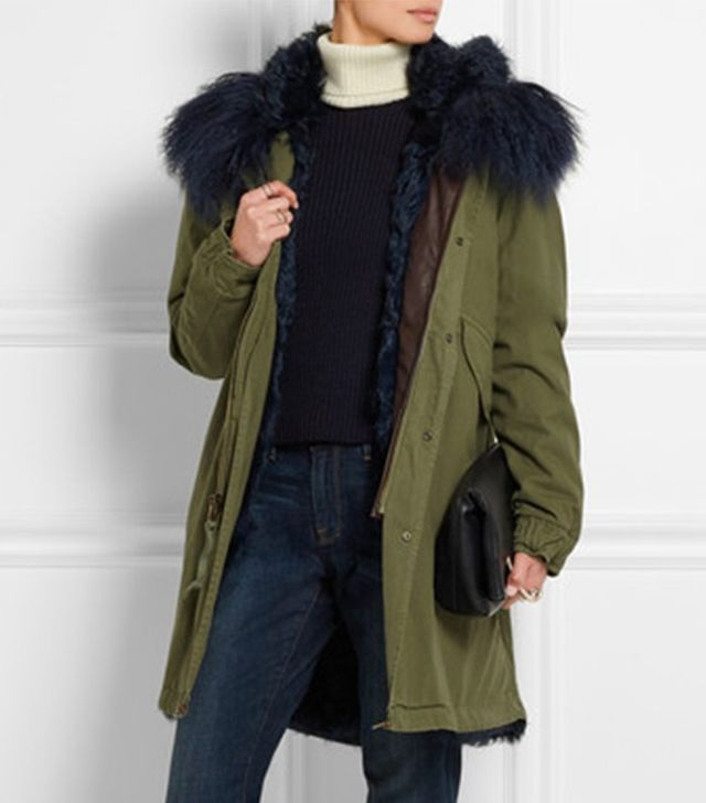 Mr and Mrs Italy Shearling-Lined Cotton-Canvas Parka