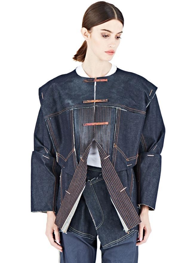 Hannah Jinkins Top-Stitch Denim Jacket