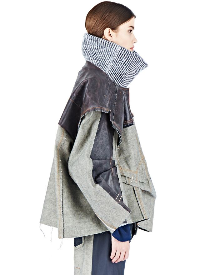 Hannah Jinkins Latex Coated Denim Jacket