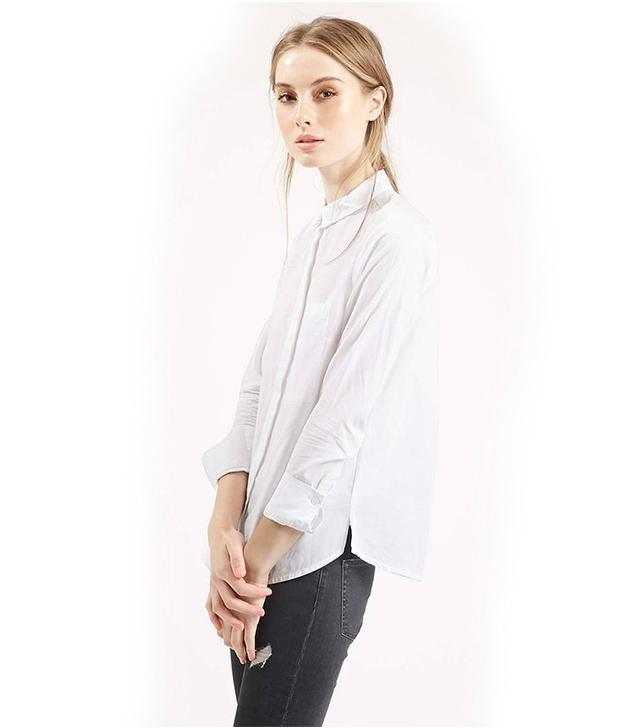 Topshop Long Sleeve Cotton Shirt