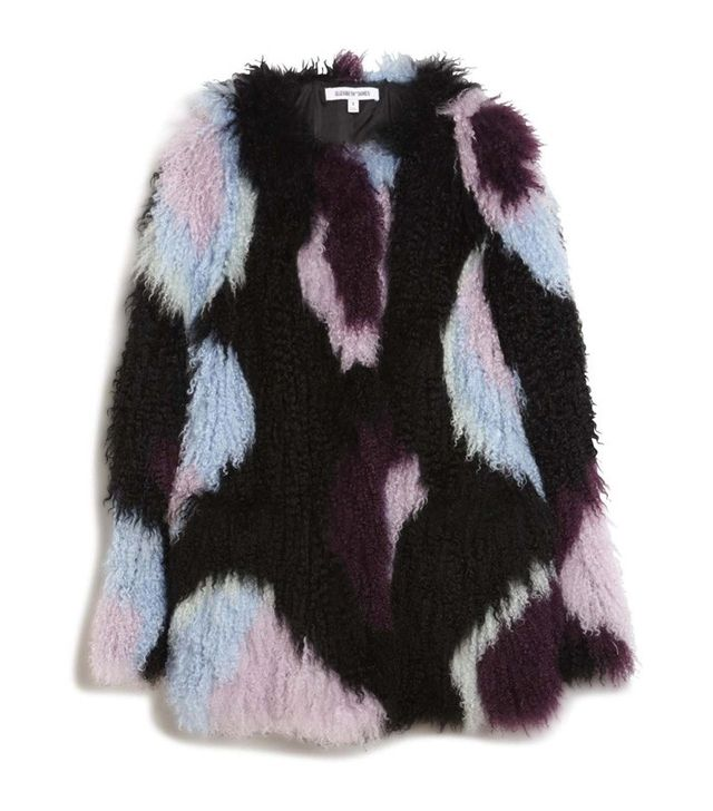 Elizabeth and James Bee Lamb Fur Jacket