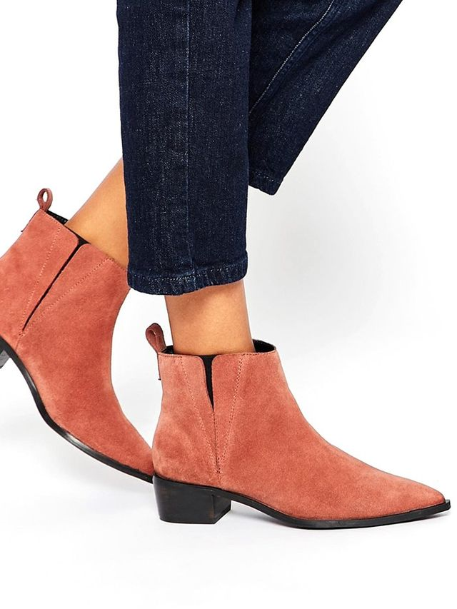 ASOS Ava Suede Pointed Chelsea Boots