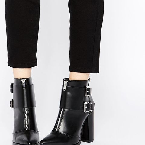 Evidence Pointed Ankle Boots