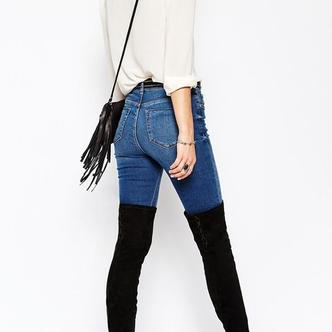 Key to my Heart Lace Up Over the Knee Boots