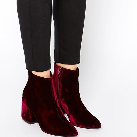 Radio Star Pointed Velvet Ankle Boots