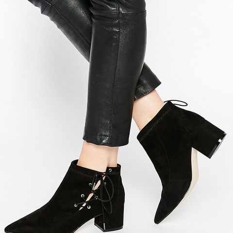 Ronny Pointed Lace Up Ankle Boots