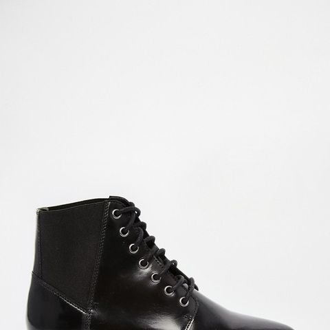 Apple of my Eye Leather Pointed Ankle Boots