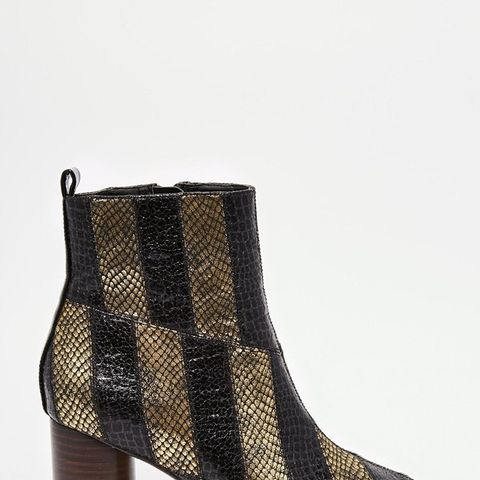 Rattle Patch Work Ankle Boots