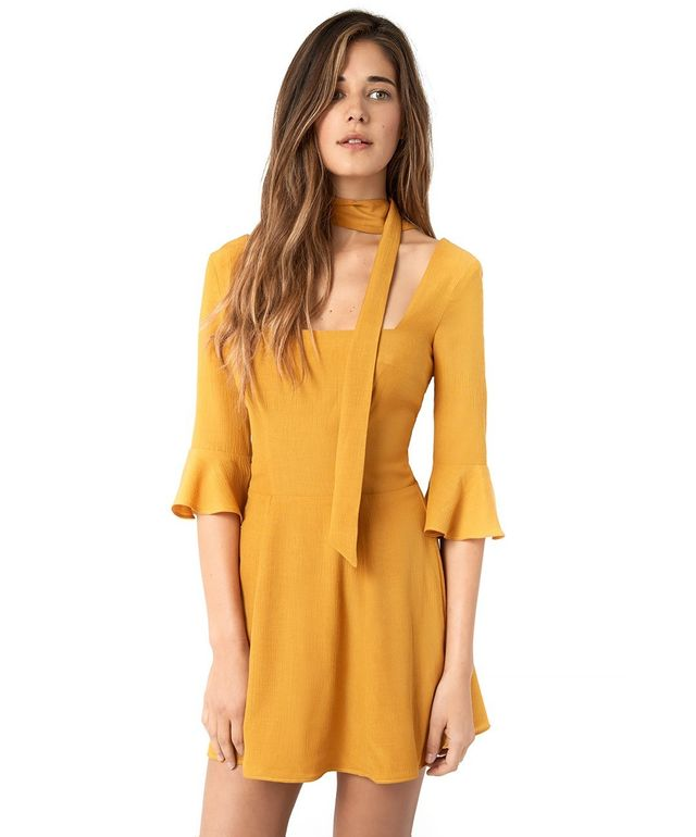 Christy Dawn The Emily Dress in Mustard