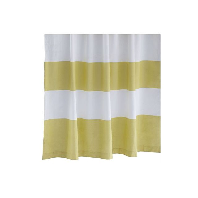 West Elm Stripe Shower Curtain - Citron