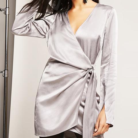 Satin Wrap Dress
