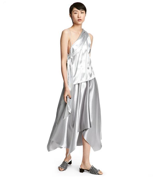 Shimmering Metallic Skirt