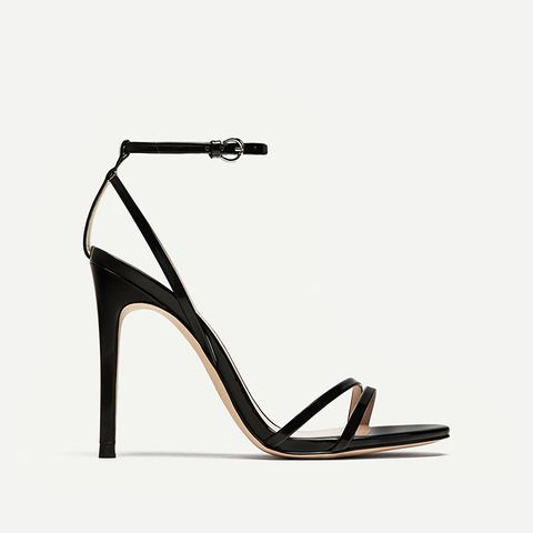 Patent Leather Sandals With Straps