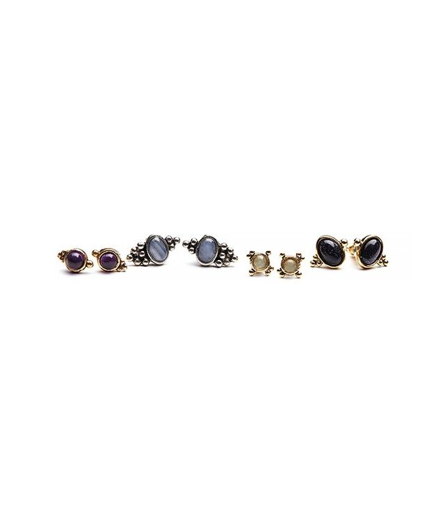 Free People Meaningful Stone Stud Set
