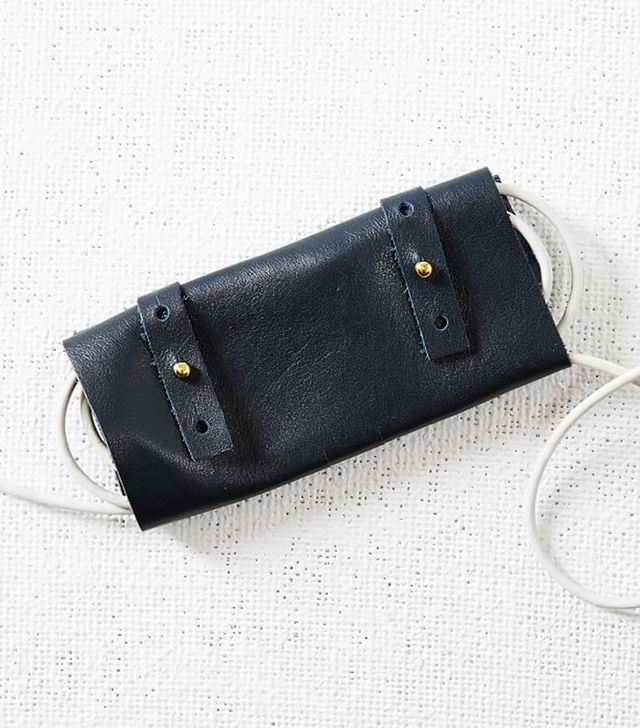 West Elm Leather Cord Roll-Up