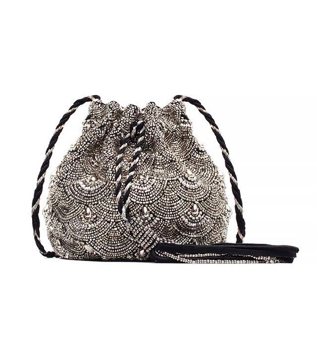 Zara Beaded Drawstring Bag
