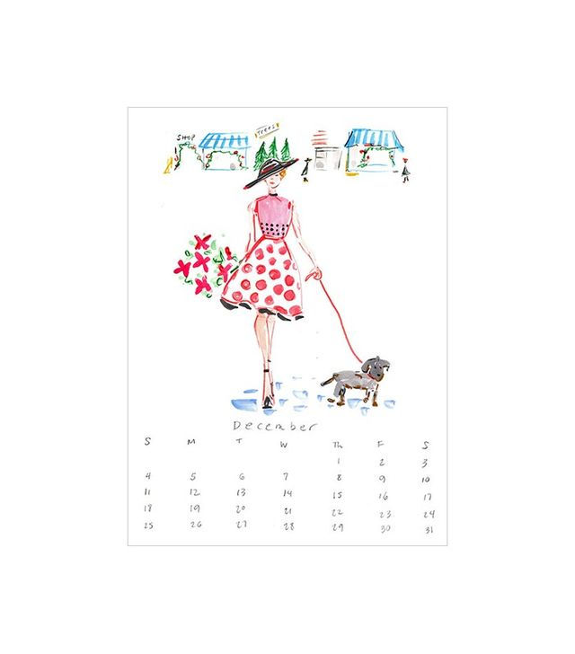 "Beth Briggs Artist Chic Perfectly Petite ""Besties"" Fashion Illustration Calendar"