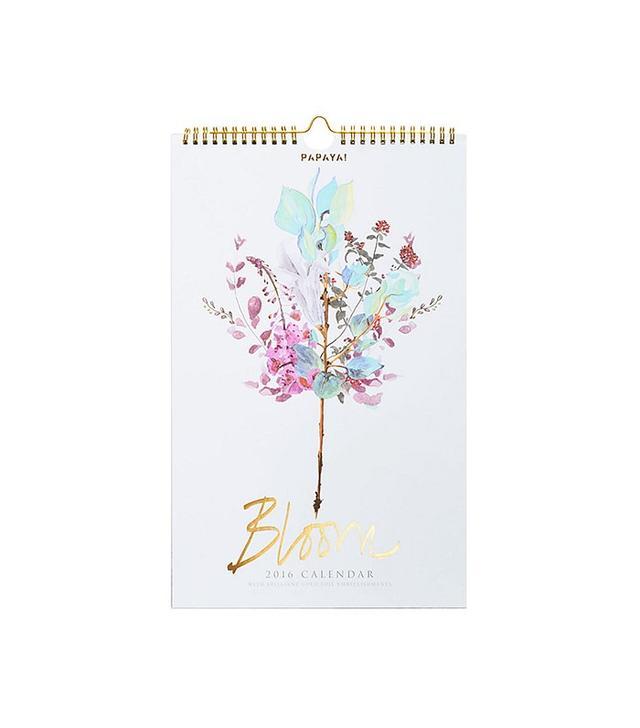 Papaya 2016 Bloom Wall Calendar