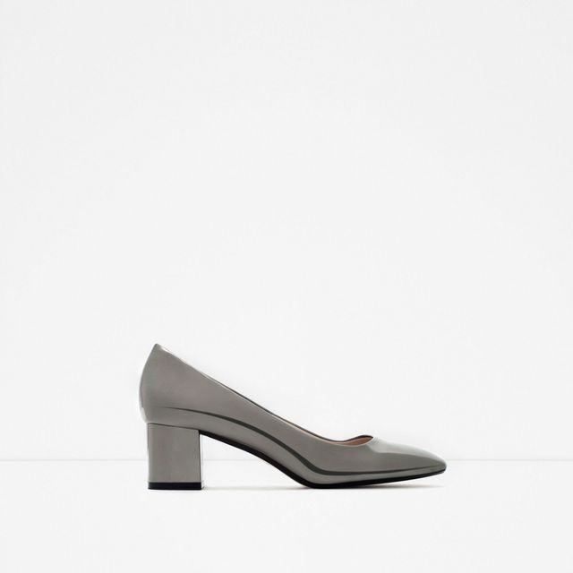 Zara Shiny Court Shoes