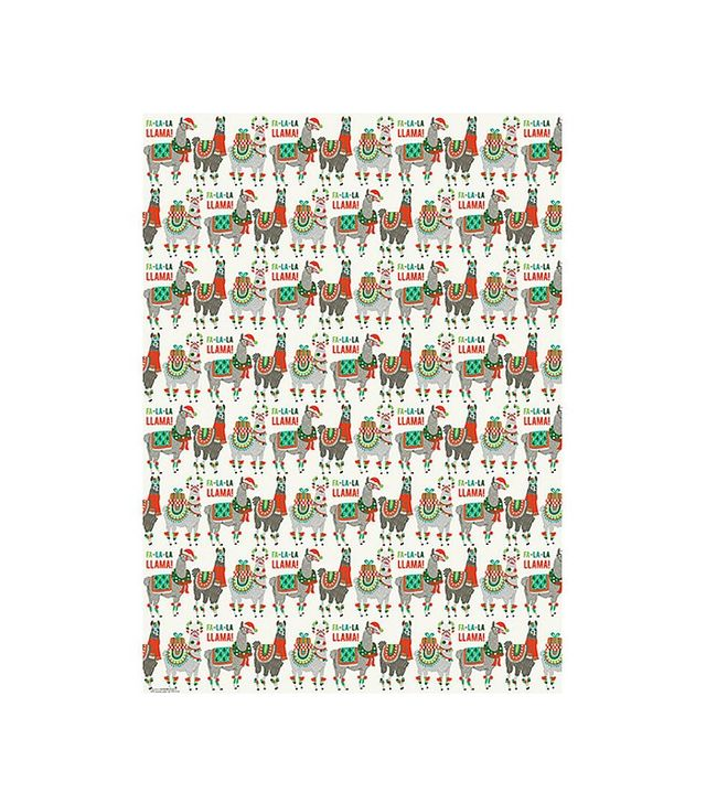 Paper Source Holiday Llamas Wrapping Paper