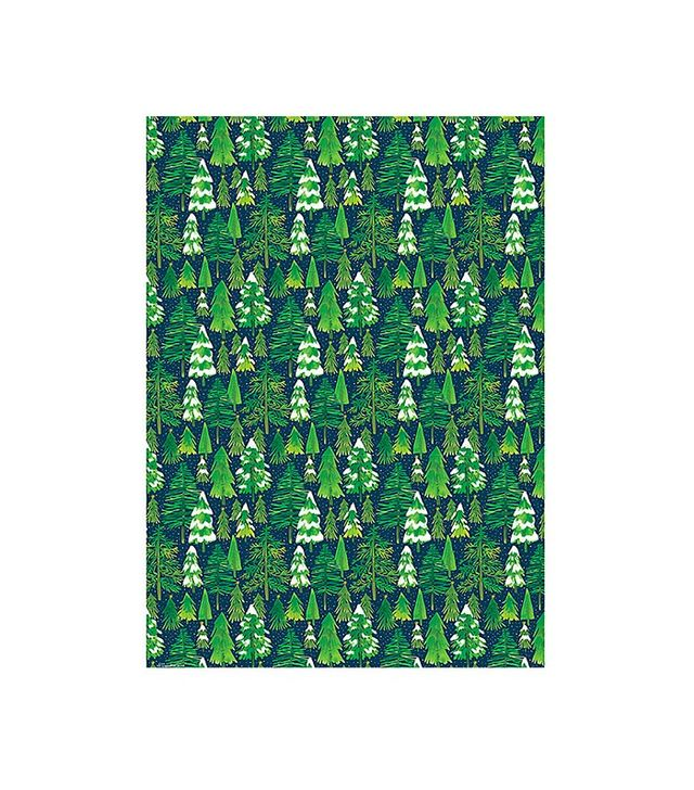 Paper Source Snowy Trees Wrapping Paper
