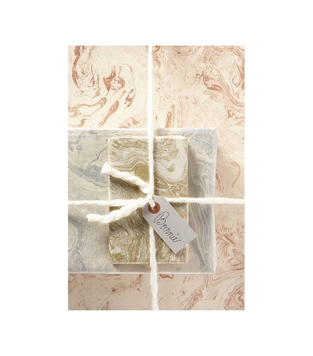 Anthropologie Handmade Marbled Gift Wrap