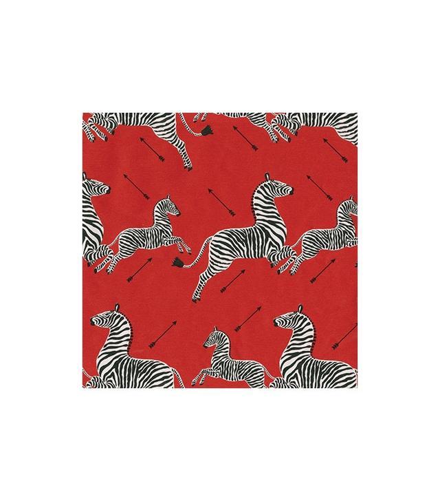Caspari Zebras Foil Gift Wrapping Paper