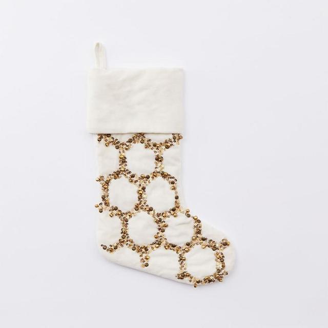 West Elm Jingle Velvet Stockings