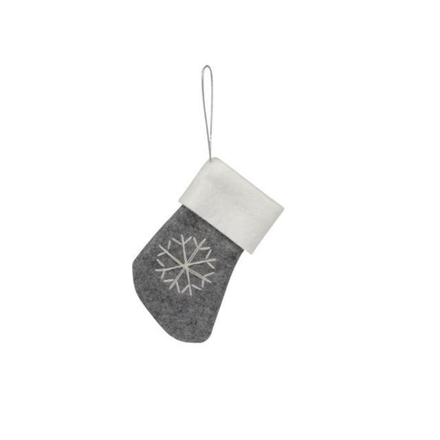 Australian House & Garden Nordic Felt Stocking with Snowflake
