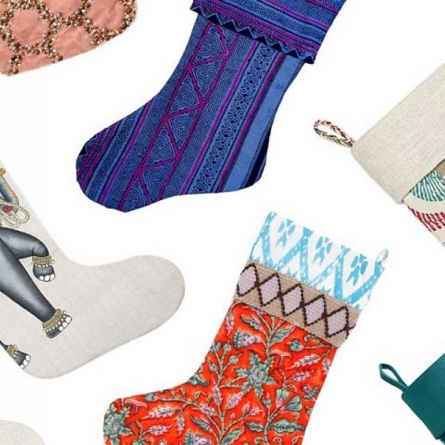 9 Chic Christmas Stockings for Grown-Ups