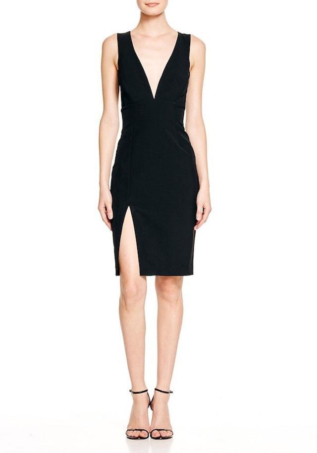 Bardot Deep V-Neck Dress