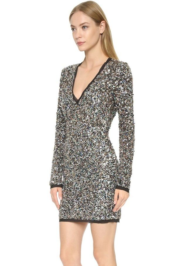 Rachel Zoe Micah V Neck Sequin Dress