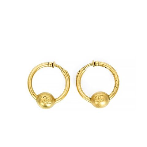 Vintage Logo Hoop Earrings