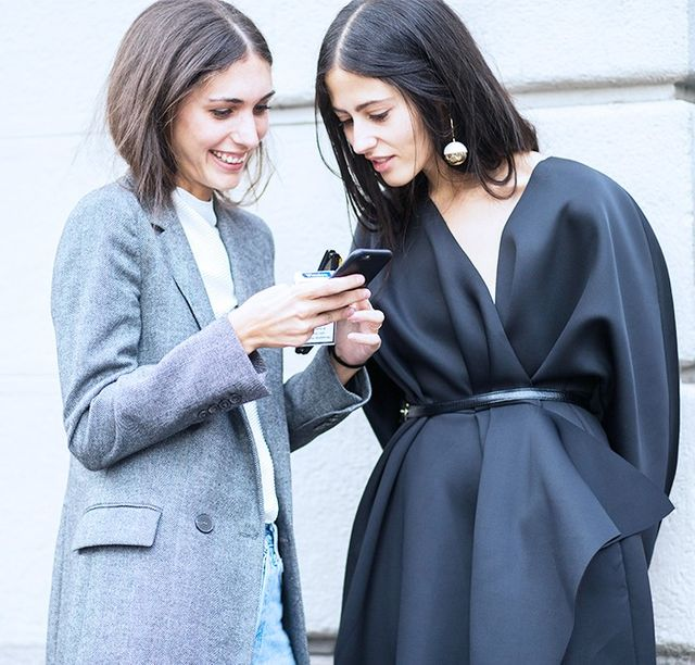 On Gilda Ambrosio: Marni earrings (shop a similar stylehere). On Diletta Bonaiuti: Paige jeans.