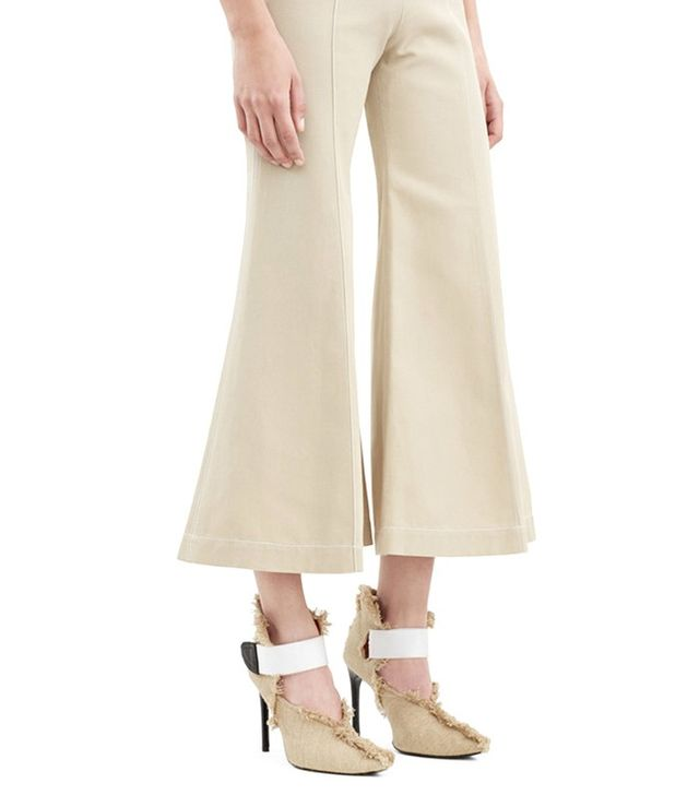 Acne Studios Olexa Twill Beige Trousers