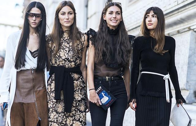 On Gilda Ambrosio (far left):Loewe Filippa Sunglasses(£295) and skirt. On Diletta Bonaiuti:Dolce and Gabbana top; Levi's jeans;Olympia Le-Tan bag. On Patricia...
