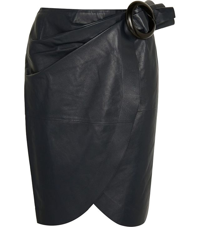 J.W.Anderson Buckled Leather Wrap Skirt