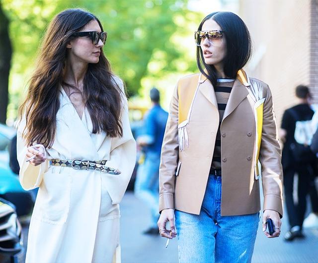 On Gilda Ambrosio:Loewe Filippa Sunglasses(£295); Fendi Resorttop and jacket; Levi's jeans.