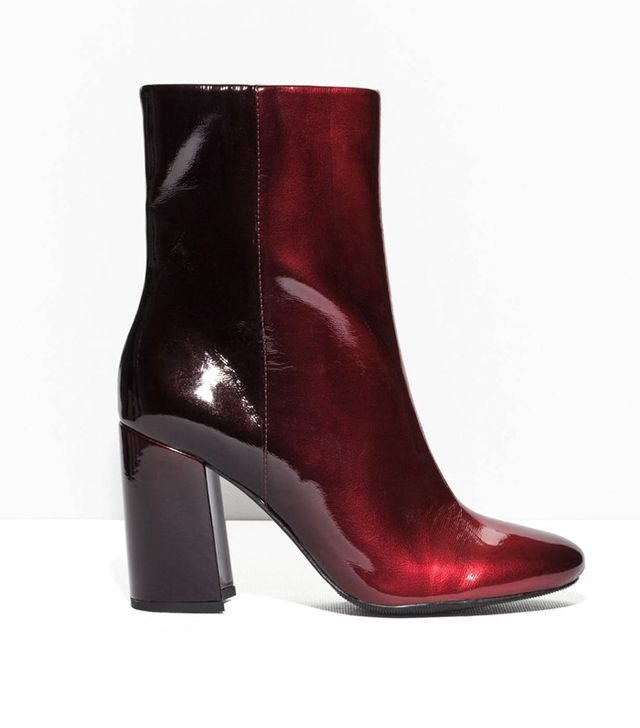 & Other Stories Glossy Gradient Leather Boots