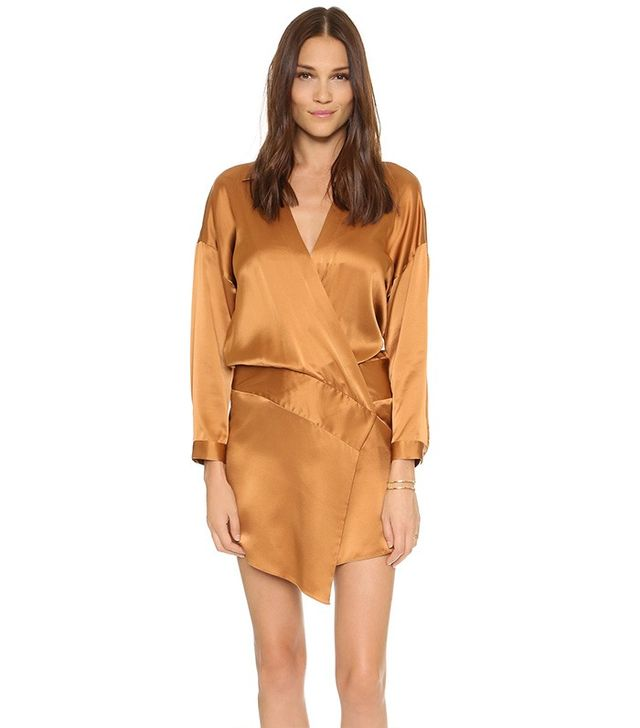 Mason by Michelle Mason Oversized Wrap Mini Dress