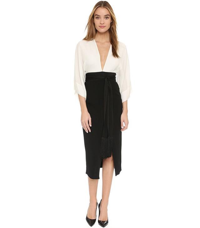 Rachel Zoe Livia Combo Midi Dress