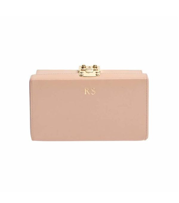 The Daily Edited Taupe Box Clutch