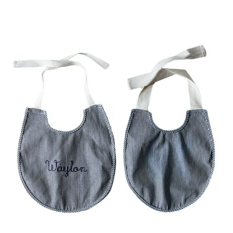 Railroad Stripe Baby Bib