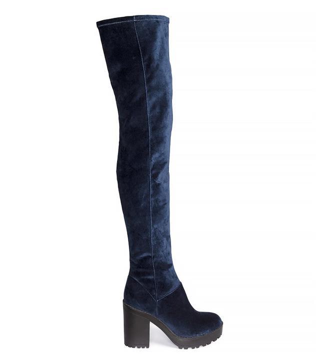 H&M Velvet Over-Knee Boots