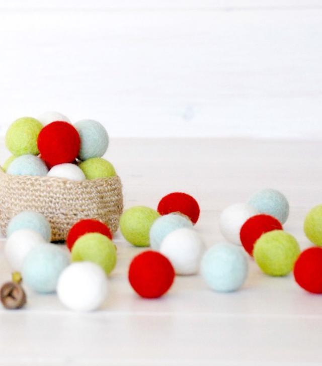 Crafty Wool Felt 40 Christmas Felt Balls
